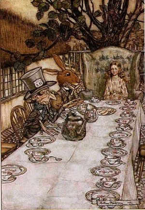 Reproduction oil paintings - Arthur Rackham - Alice in Wonderland: A Mad Tea Party