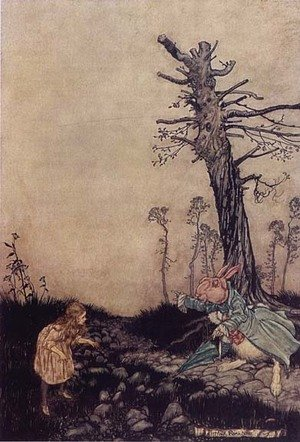Reproduction oil paintings - Arthur Rackham - Alice in Wonderland: Down the Rabbit Hole