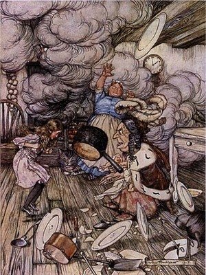 Reproduction oil paintings - Arthur Rackham - Alice in Wonderland: Pig and Pepper