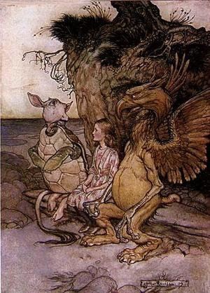 Reproduction oil paintings - Arthur Rackham - Alice in Wonderland: The Mock Turtle's Story