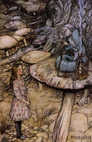 Reproduction oil paintings - Arthur Rackham - Alice in Wonderland: The Rabbit Sends in a Little Bill