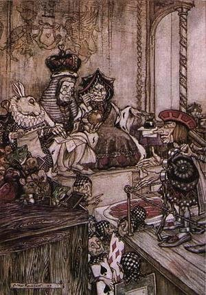 Reproduction oil paintings - Arthur Rackham - Alice in Wonderland: Who Stole the Tarts?