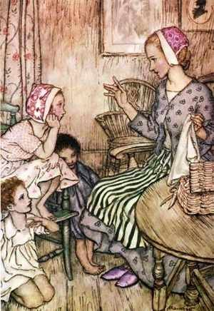 Reproduction oil paintings - Arthur Rackham - Goblin Market: Laura would call the little ones