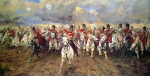 Famous paintings of Horses & Horse Riding: Scotland For Ever!