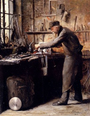 Famous paintings of Studios and Workshops: The Carpenter