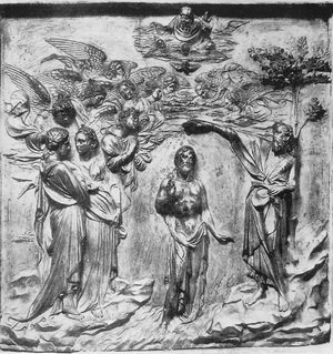 Lorenzo Ghiberti reproductions - The Baptism of Christ