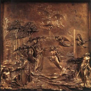 Lorenzo Ghiberti reproductions - Adam and Eve in the Garden of Eden