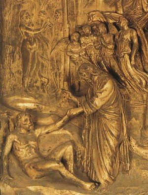 Lorenzo Ghiberti reproductions - Adam and Eve in the Garden of Eden: The Creation of Adam and Eve