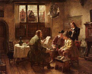 Reproduction oil paintings - Fritz Wagner - The Contract