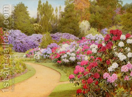 George Marks: The Rhododendron Walk - reproduction oil painting