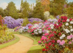 Famous paintings of Trees: The Rhododendron Walk