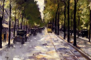Famous paintings of Trams: Berlin Street