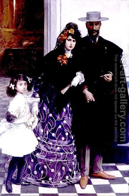 Spanish Family by Henri Zo - Reproduction Oil Painting