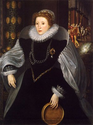 Mannerism painting reproductions: Portrait of Queen Elizabeth I (1533-1603) in Ceremonial Costume