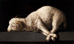 Famous paintings of Domestic Animals: Agnus Dei, c.1635-40
