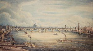 Gideon Yates reproductions - From Hungerford Pier, 1837