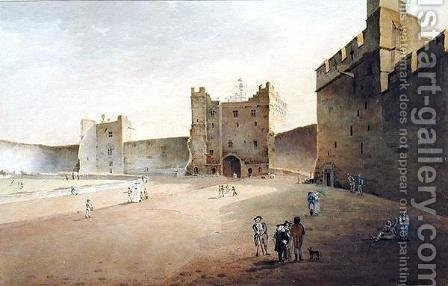 Gideon Yates: View of Lancaster looking towards the Gatehouse - reproduction oil painting