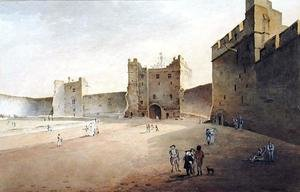 Reproduction oil paintings - Gideon Yates - View of Lancaster looking towards the Gatehouse
