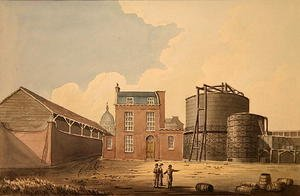 Reproduction oil paintings - Gideon Yates - View of Phoenix Gas Works, Bankside, 1826