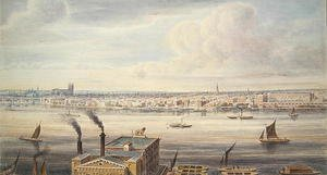 Reproduction oil paintings - Gideon Yates - A fine View of London from Westminster Bridge to the Adelphi, 1837