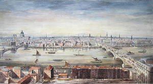 Reproduction oil paintings - Gideon Yates - A View of London from St. Pauls to the Custom House, 1837