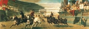 Famous paintings of Domestic Animals: The Chariot Race, c.1882