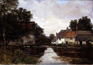 Famous paintings of Mills: Mill on the Cam, Shepreth Mill, near Cambridge, 1902