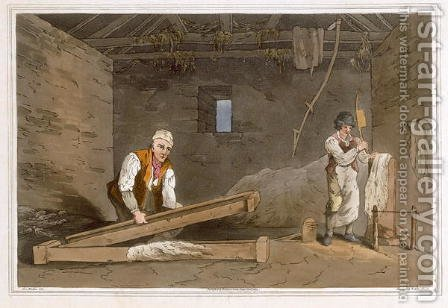 Line Swinglers engraved by Robert Havell the Elder, published 1814 by Robinson and Son, Leeds by (after) Walker, George - Reproduction Oil Painting