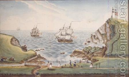 A View of the Bathing Place, called Willdows, taken from Mrs. Downs Malt House, 1799 by J. Walters - Reproduction Oil Painting