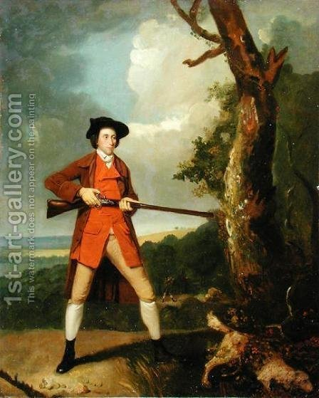 Robert Rayner Shooting, c.1770 by Henry Walton - Reproduction Oil Painting