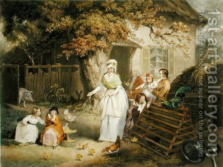 The Citizens Retreat, 1796 by (after) Ward, James - Reproduction Oil Painting