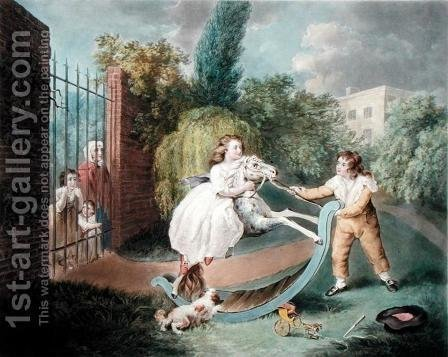 The Rocking Horse, c.1793 by James Ward - Reproduction Oil Painting