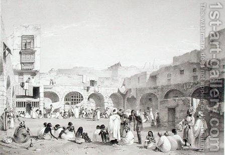 Slave Market, Cairo, engraved by T.C. Bourne, 1840s by Henry Warren - Reproduction Oil Painting