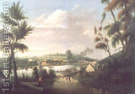 A direct north general view of Sydney Cove, 1794 by (after) Watling, Thomas - Reproduction Oil Painting