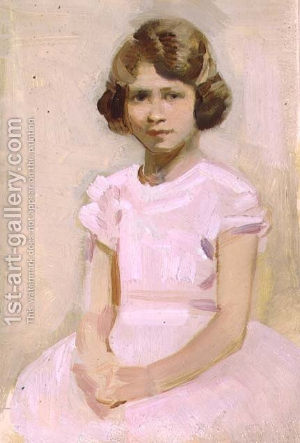 H.M. The Queen as Princess Elizabeth by Harry Watson - Reproduction Oil Painting