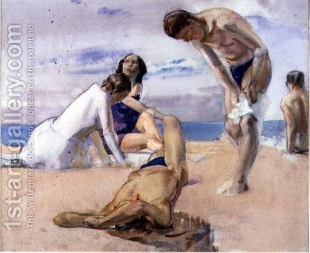 The Bathers by Harry Watson - Reproduction Oil Painting
