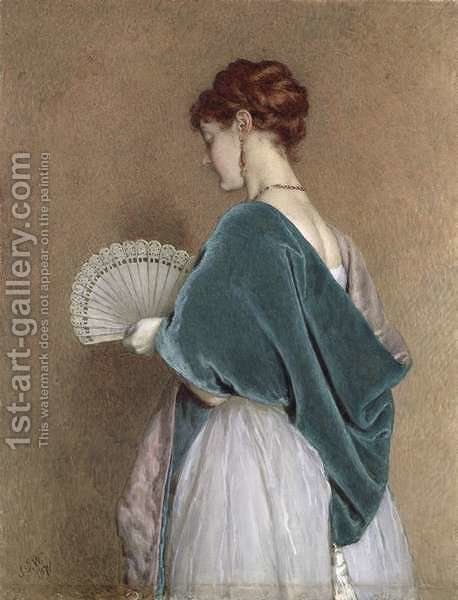 Huge version of Woman with a Fan, 1871