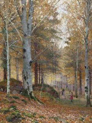 Famous paintings of Trees: Autumn in the Woods