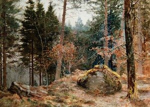 James Thomas Watts reproductions - In a Welsh wood, winter