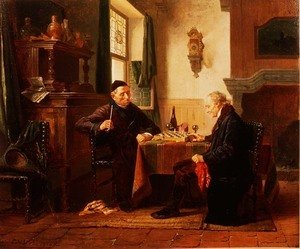 Famous paintings of Chess: The Chess Match