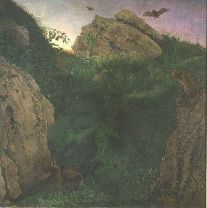 Famous paintings of Bats: Twilight