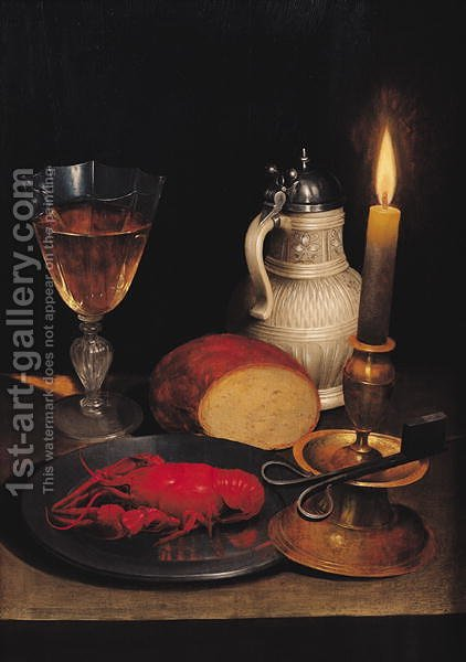 Still Life, c.1630-35 by Gotthardt von Wedig - Reproduction Oil Painting