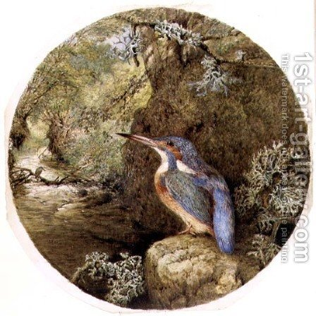 The Kingfishers Haunt, 1864 by Harrison William Weir - Reproduction Oil Painting