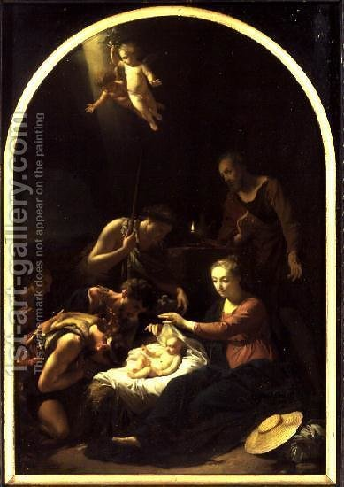Adoration of the Shepherds, 1703 by Adriaen Van Der Werff - Reproduction Oil Painting
