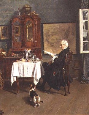 Alexander Friedrich Werner reproductions - The Actuary at Breakfast