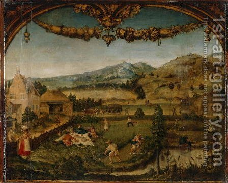 The Month of June, c.1525-26 by Hans Wertinger - Reproduction Oil Painting