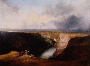 View of the Avon Gorge from Observatory Hill, c.1830