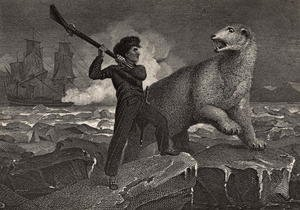 Nelsons encounter with a Bear, illustration from The Life of Nelson by Robert Southey (1774-1843) first published 1813