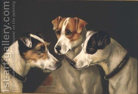 The Hounds by Alfred Wheeler - Reproduction Oil Painting