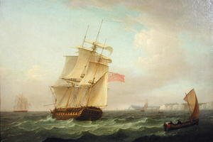 Famous paintings of Clouds & Skyscapes: British Man-o-war